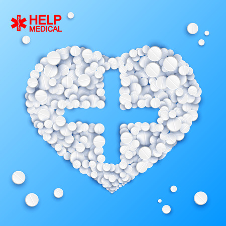 Abstract Medicine Template vector illustration.