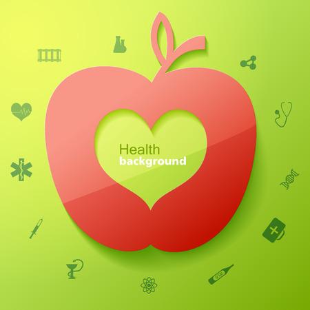 Health Green Background Ilustrace