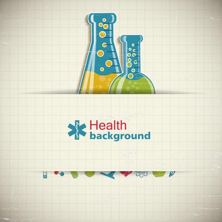 Science Paper Background Illustration