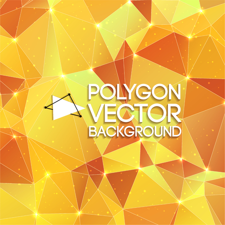 Polygon Yellow Background