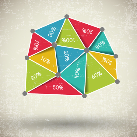 Business multicolored diagram illustration. Illustration