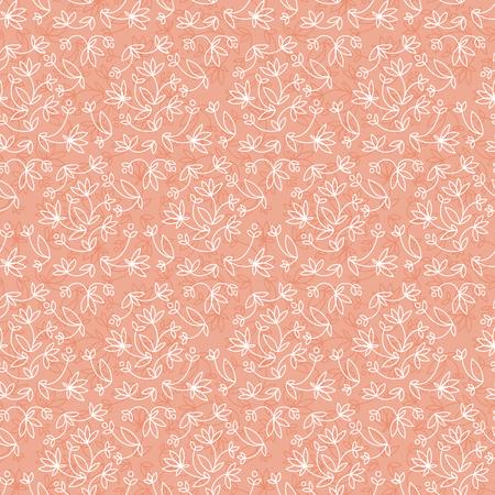 Flourish Seamless Pattern Illustration