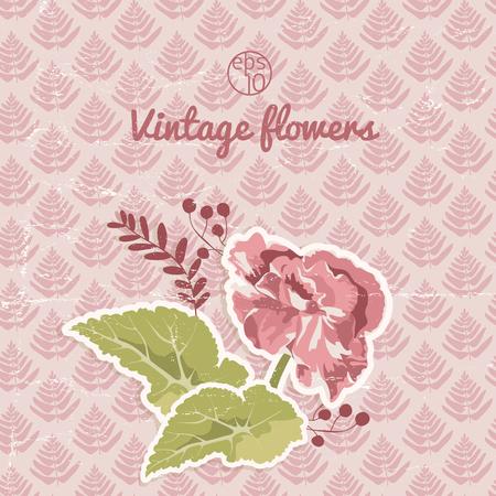 Vintage Flourish Background Illustration