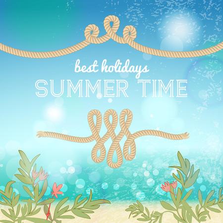 Holiday Summer vector illustration Ilustração