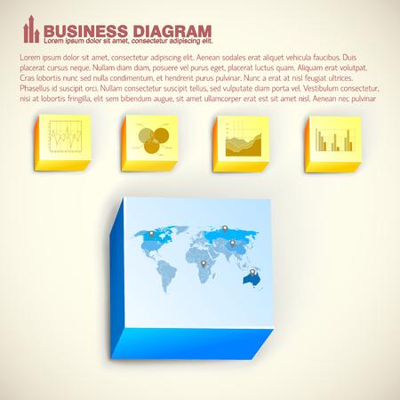 Business Infographic Vorlage Standard-Bild - 84327902