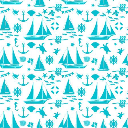 Sea Seamless Pattern Иллюстрация
