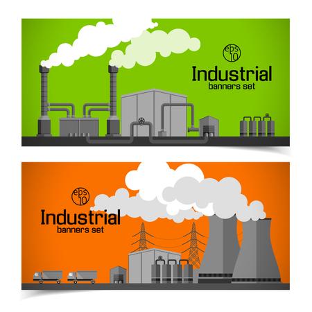 Industrial Horizontal Banners 版權商用圖片 - 84327976