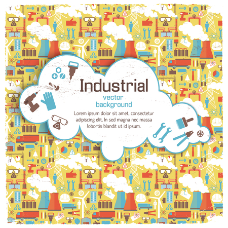 White Cloud On Industrial Background