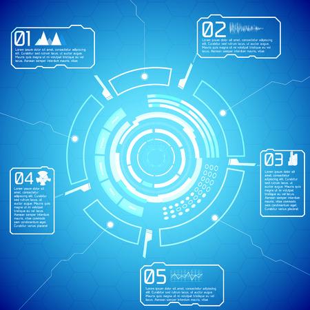 Digital Futuristic Interactive Infographics