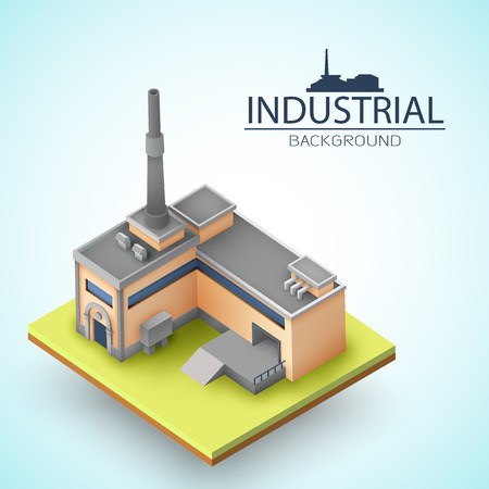 3d Factory Background