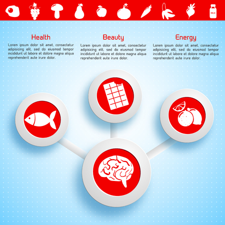 Light Infographic Template Ilustrace