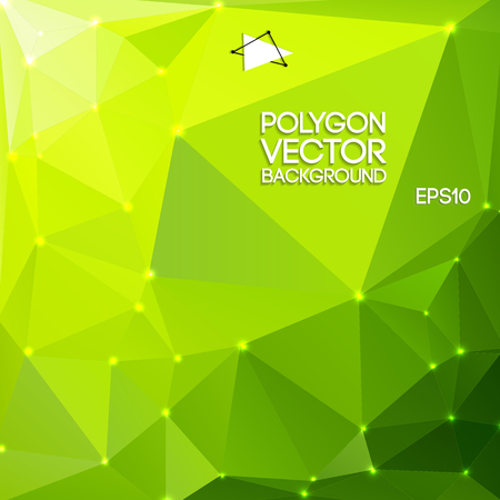 Green Polygon Backround