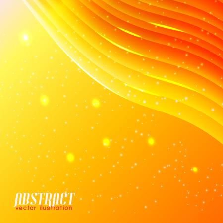 明るい波状抽象的な背景  イラスト・ベクター素材