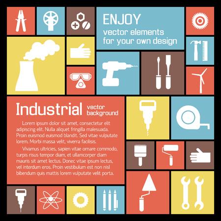 産業用ツールの背景  イラスト・ベクター素材