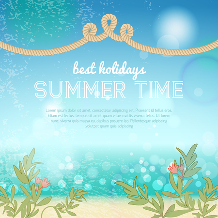 Colorful Summer Template Illustration