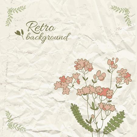 Retro Floral Template Illustration