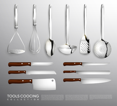 Realistic Kitchen Equipment Collection