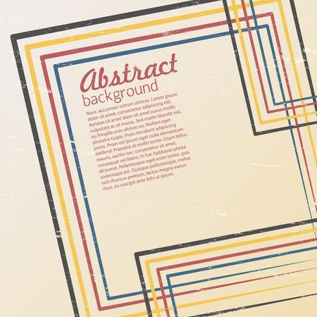 Retro Background Design With Stripes Labyrinthine