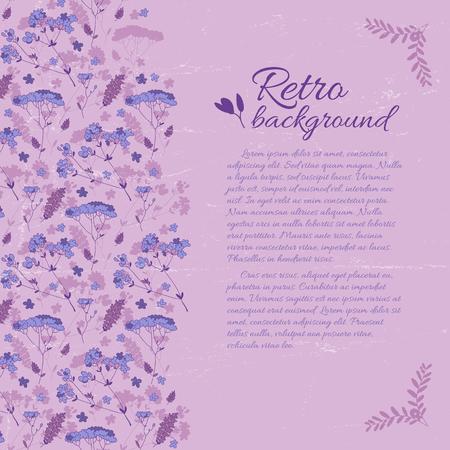 Retro Elegant Floral Template 向量圖像