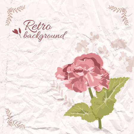Retro Decorative Floral Template