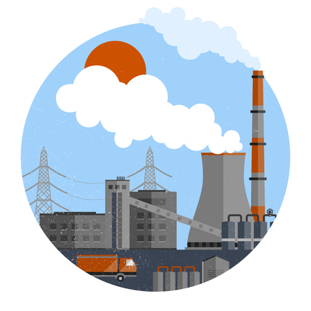 Manufacturing Plant Template Illustration
