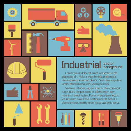 Industrial Icons Set.