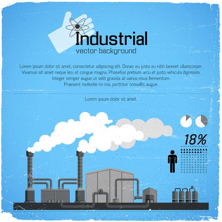 Industriële achtergrond en Infographic-elementen. Stock Illustratie