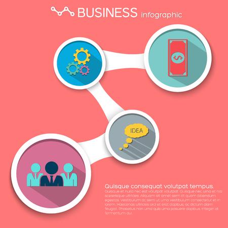 Infographie des affaires abstraite. Banque d'images - 84555036