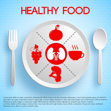 Healthy Food Concept. Illustration
