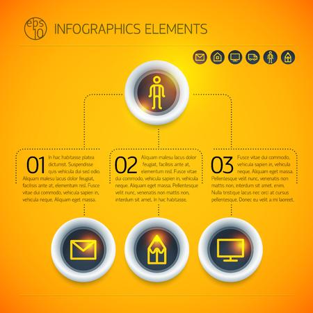 Lments infographiques d & # 39 ; entreprise infographie numérique Banque d'images - 84555042