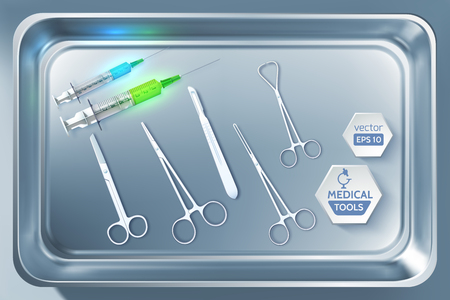 Medical Tools Background.