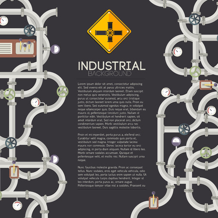 Manufacturing pipes illustration. 向量圖像