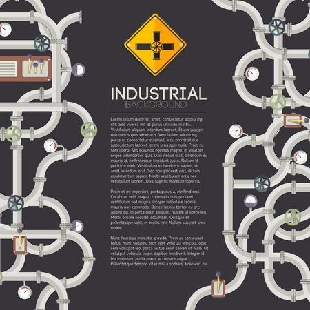 Manufacturing pipes illustration. Stock Illustratie