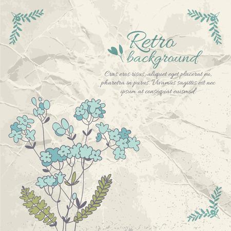 Retro Flourish Background 向量圖像