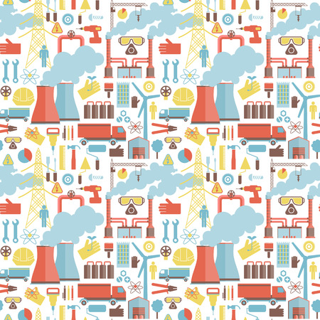 Industrial elements seamless pattern.