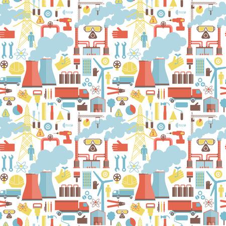 Industrielle Elemente nahtlose Muster. Standard-Bild - 84659475