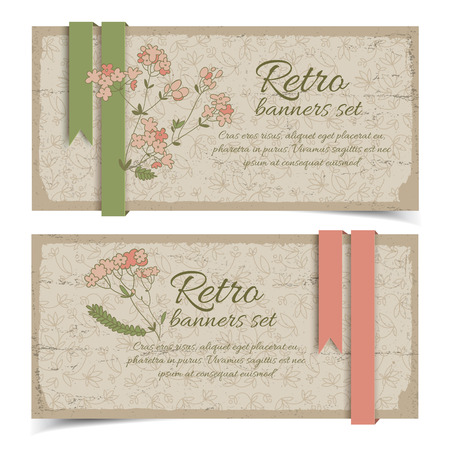 Vintage Floral Horizontal Banners