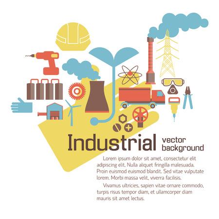 Industriële Milieu Template Stock Illustratie
