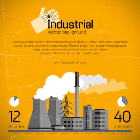 Industriële bedrijfsachtergrond Stock Illustratie