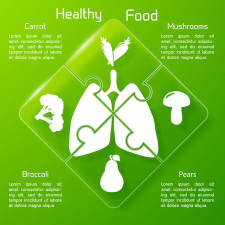 Healthy Food Puzzle Concept