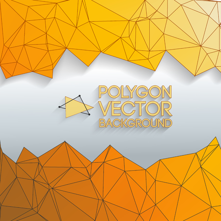Yellow Abstract Triangle Vector Background