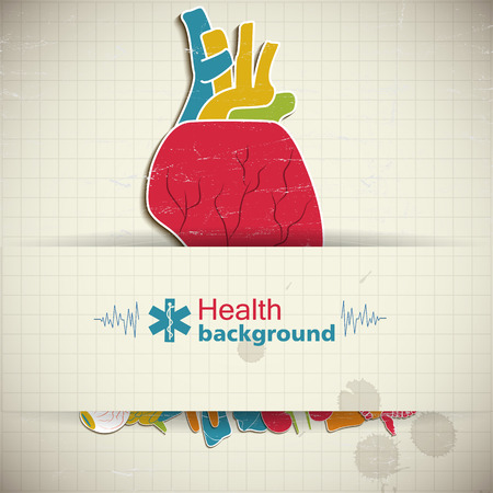 Human organs concept vector illustration.