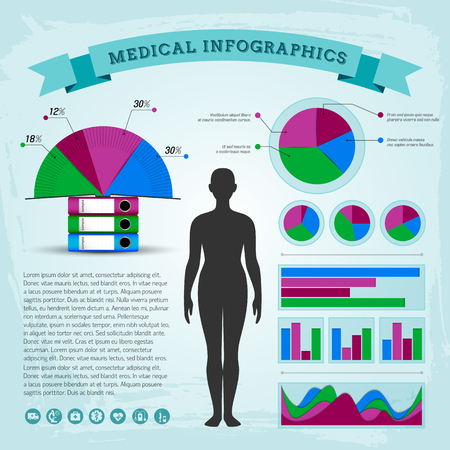 Health care infographics vector illustration.