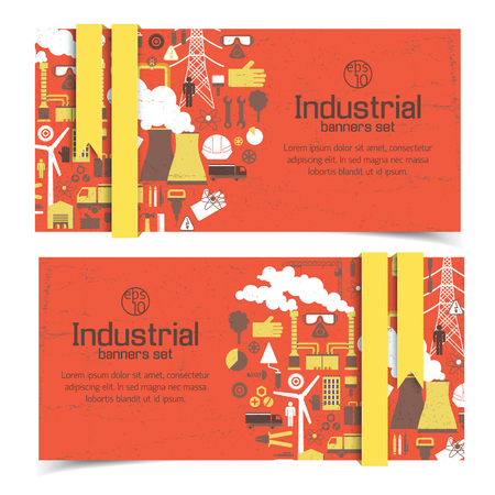 Industrial Red Banners