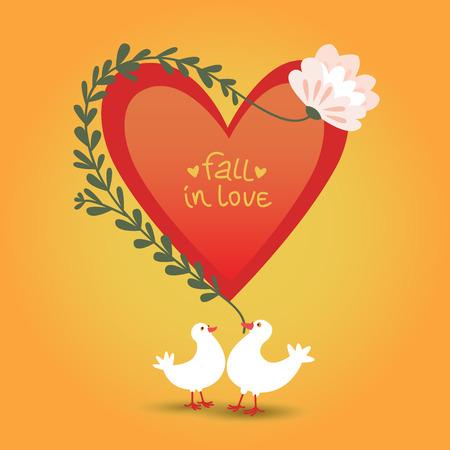 バレンタインの日の愛のカード