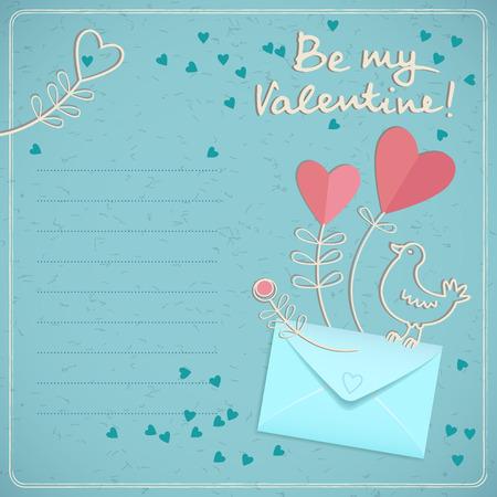 Valentinstag-Karte Standard-Bild - 85327960