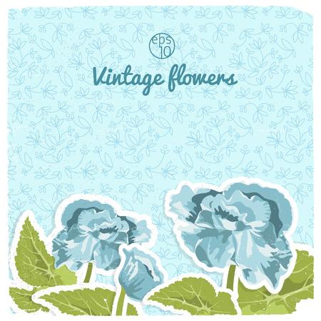 Vintage Flowery Backround