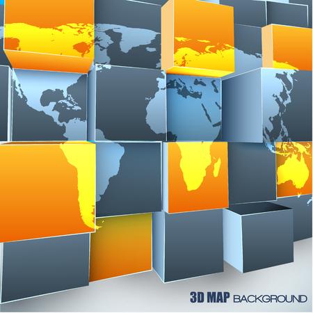 세계지도와 추상 3d 배경