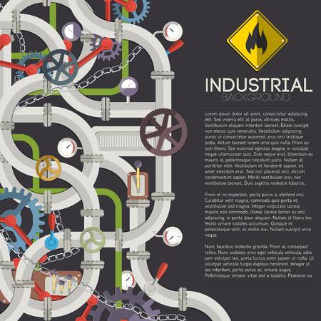 Industrial Mechanism Concept Stock Vector - 85327985
