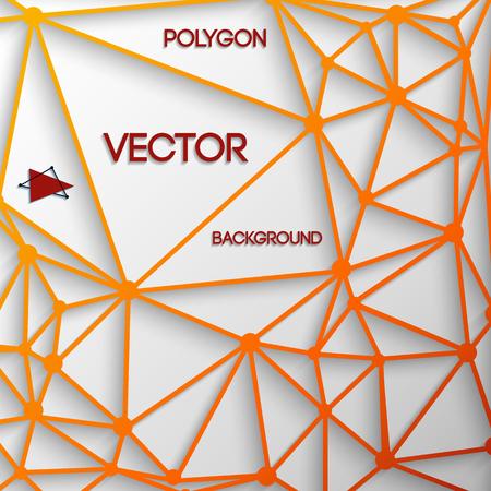 Orange Polygon Ilustrace